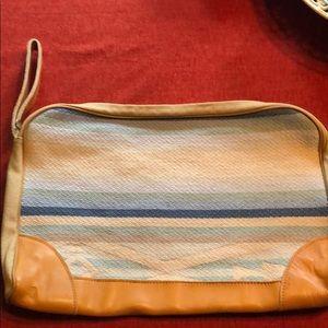 Large laptop case Vintage Attache blanket bag